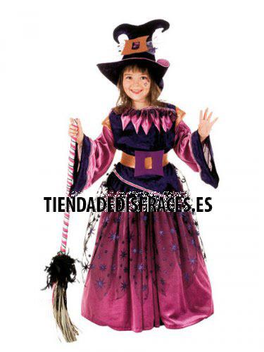 Disfraz de BRUJA VIOLETTE infantil deluxe