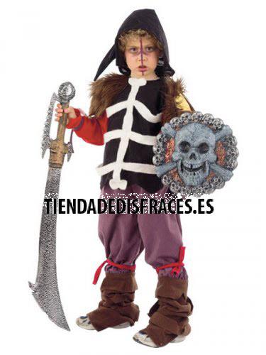 Disfraz de VIKINGO MACABRO infantil deluxe