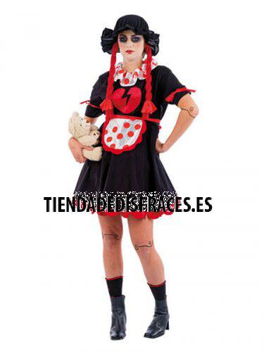 Disfraz de muñeca malefica adulto deluxe Talla M