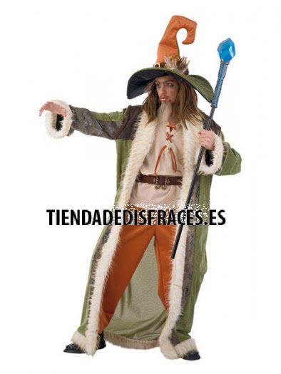 Disfraz de BRUJO HECHICERO adulto extraluxe