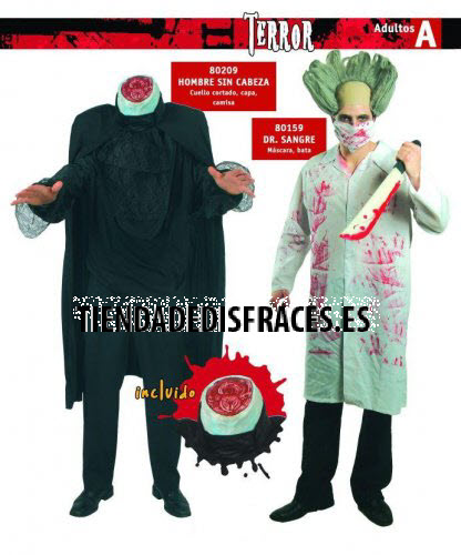 Disfraz De Hombre Sin Cabeza Adulto - Disfraces-sin-cabeza