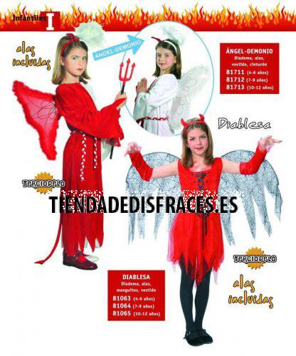 Disfraz de Angel-Demonio infantil 10-12 años