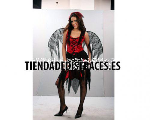 Disfraz de Bruja Arácnida con alas adulta económico