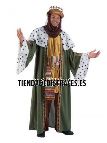 Disfraz de Rey Baltasar adulto deluxe Talla XL