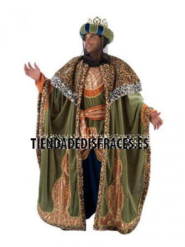 Disfraz de Rey Baltasar adulto extraluxe