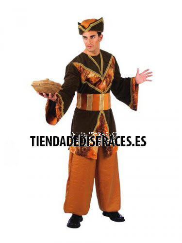 Disfraz de Paje del Rey Gaspar adulto extraluxe