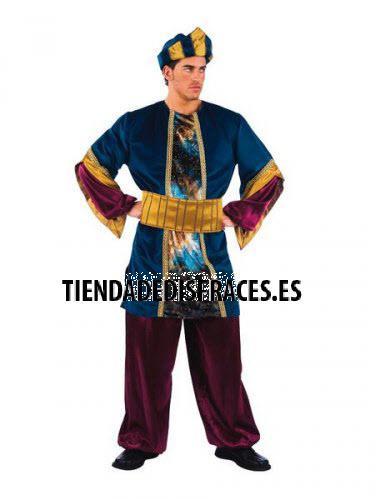 Disfraz de Paje del Rey Melchor adulto extraluxe