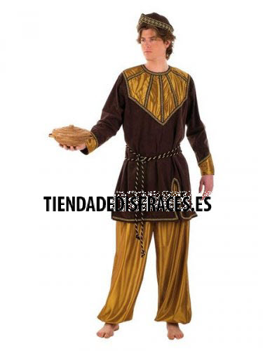 Disfraz de Paje del Rey Melchor adulto superluxe
