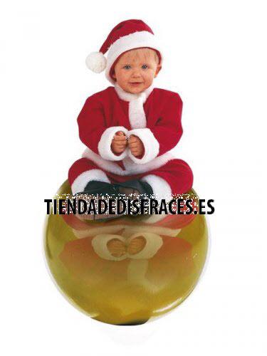 Disfraz de Papa Noel Bebé deluxe 1 año