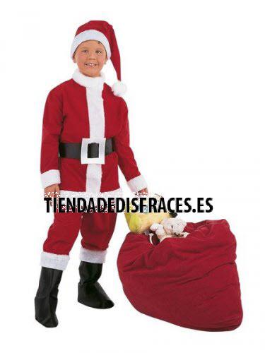 Disfraz de Papa Noel Infantil deluxe Talla 7 a 9 años
