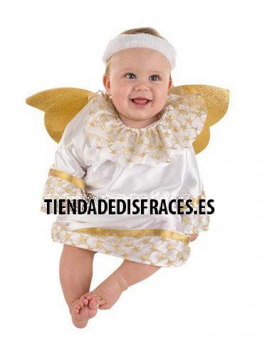 Disfraz de Angelito Bebé deluxe 1 año