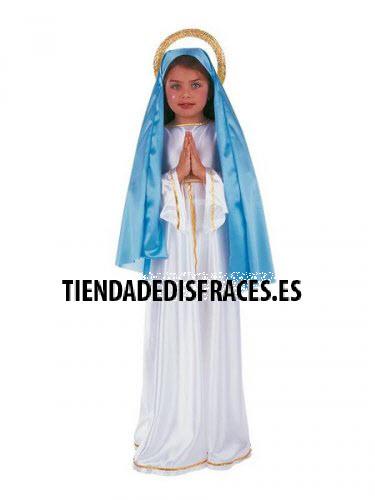 Disfraz de Virgen Maria infantil deluxe (4) de 7 a 9 años