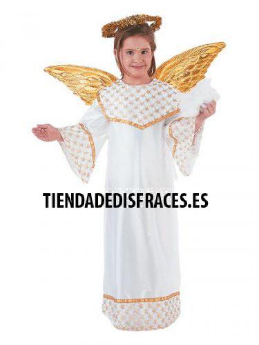 Disfraz de Angel Dorado infantil deluxe Talla 3 a 5 años