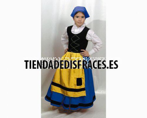 Disfraz de Pastora azul 4-6 años económico