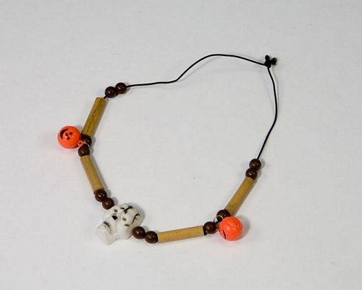 Collar calavera y calabazas, 29x12cm
