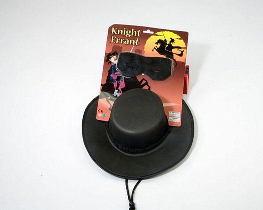 Tarj sombrero y antifaz de enmascarado, 54x27