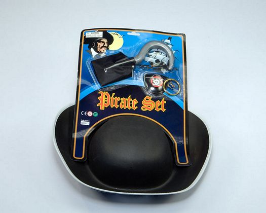 Tarj ac pirata sombrero, 3pz 50x27cms