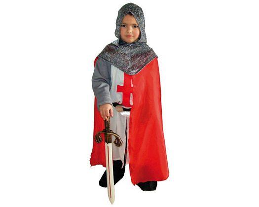 Disfraz de caballero medieval blanco, Talla 1 (3 – 4 años)