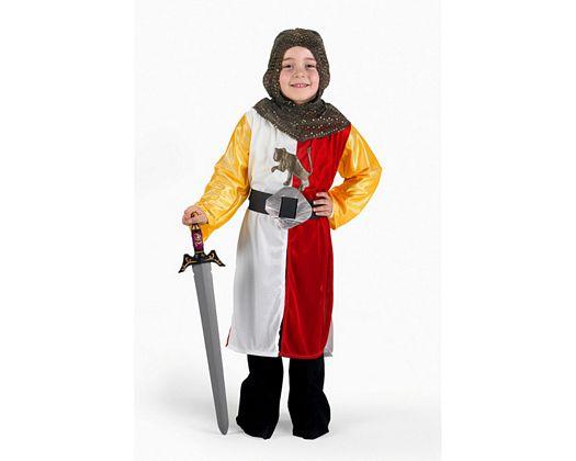 Disfraz de caballero cruzadas rojo, 7-9