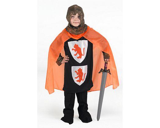 Disfraz de caballero cruzadas naranja, Talla 1 (3 – 4 años)