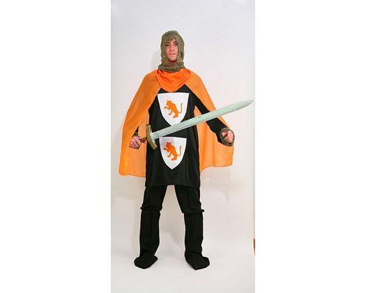 Disfraz de caballero cruzadas naranja, adulto