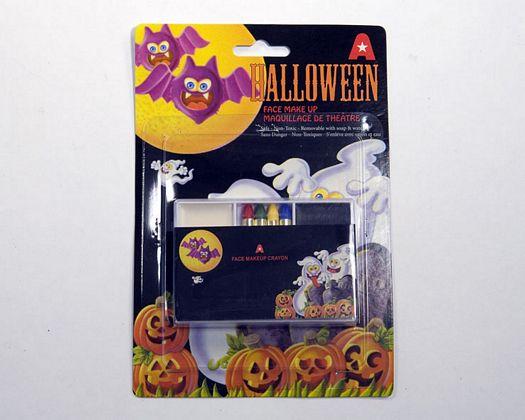 Maquillaje Halloween 4 ceras y 2 cremas color