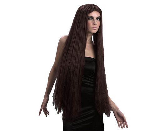 Pvc peluca extra larga morena