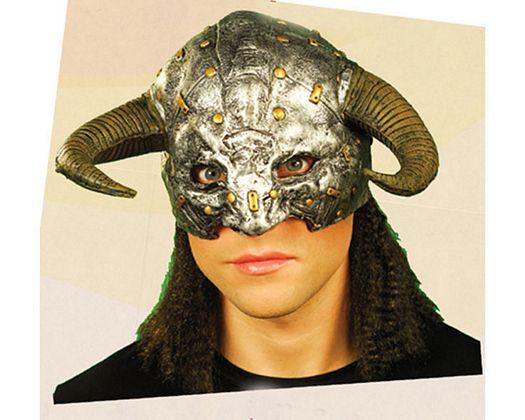 Peluca vikingo negra