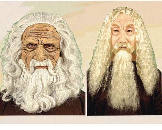 Mascara de viejo melena y barba