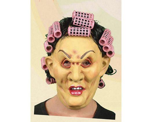 Mascara mujer rulos