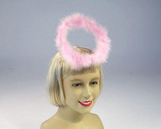 Tiara plumilla color rosa y blanco