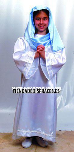 Disfraz de Virgen 4-6 años económico
