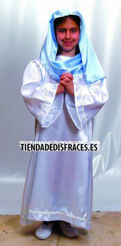 Disfraz de Virgen 7-9 años económico