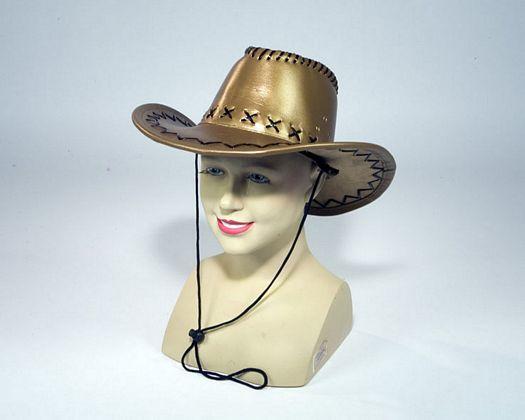 Sombrero vaquero dorado