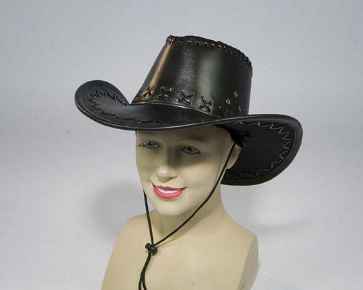 Sombrero vaquero marron brillante