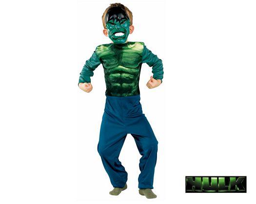Disfraz de hulk licencia, 3-5 años