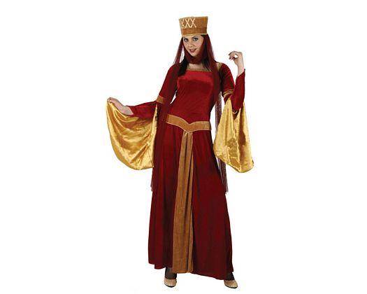 Disfraz de dama medieval rojo, t-2