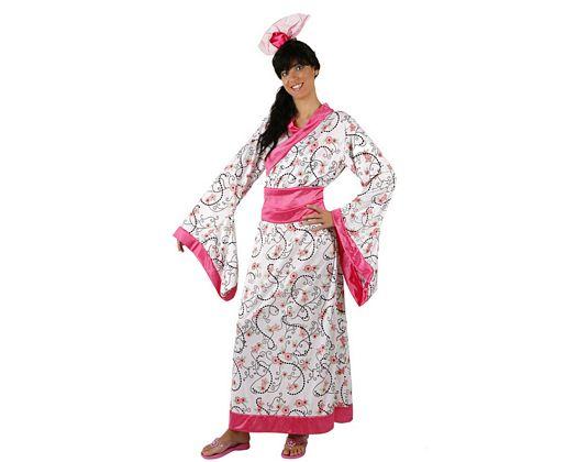 Disfraz de geisha rosa, adulto
