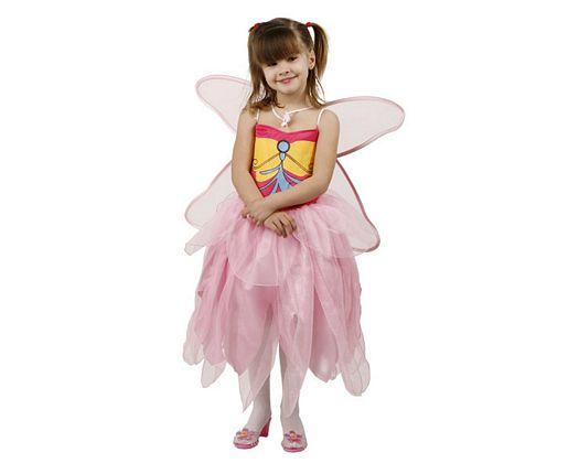Disfraz de hada mariposas rosa, 7-9