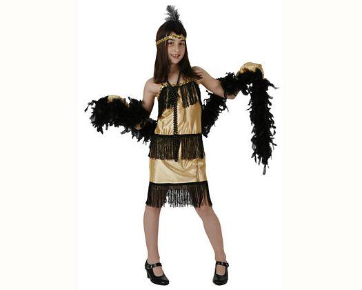 Disfraz de charleston dorado talla 2