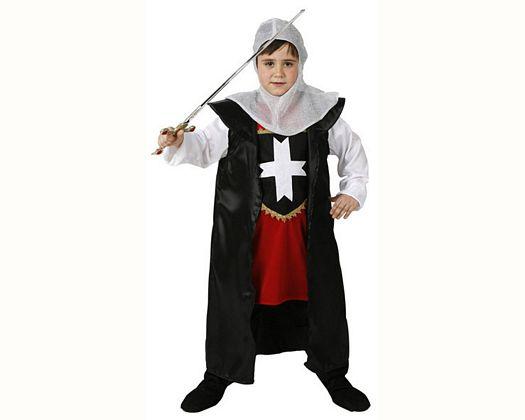 Disfraz de caballero cruzadas, 5-6 años