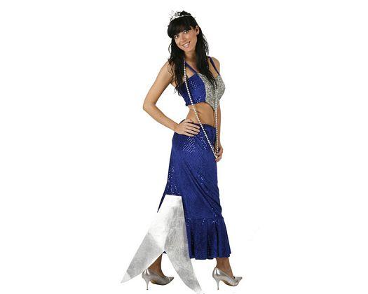 Disfraz de sirena azul, adulto