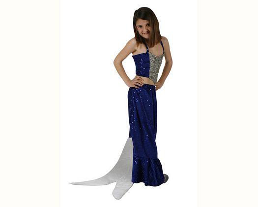 Disfraz de sirena azul, Talla 2 (5 – 6 años)