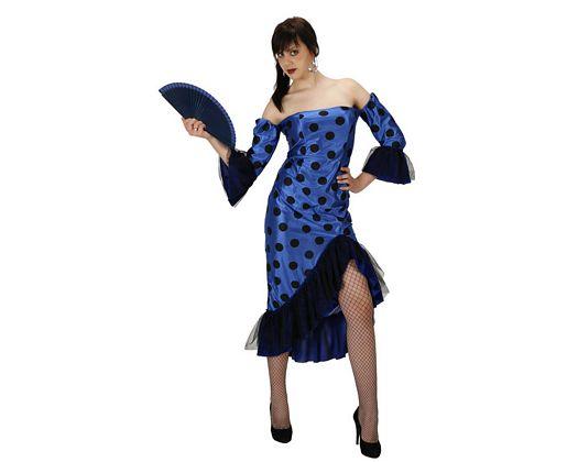 Disfraz de flamenca rojo, adulto Talla 2 (M-L)