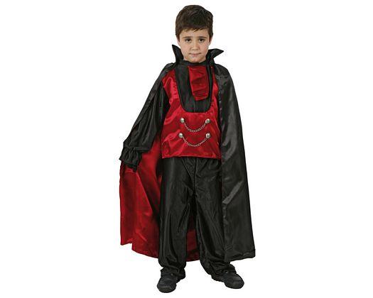 Disfraz de principe tinieblas rojo, 3-4 años