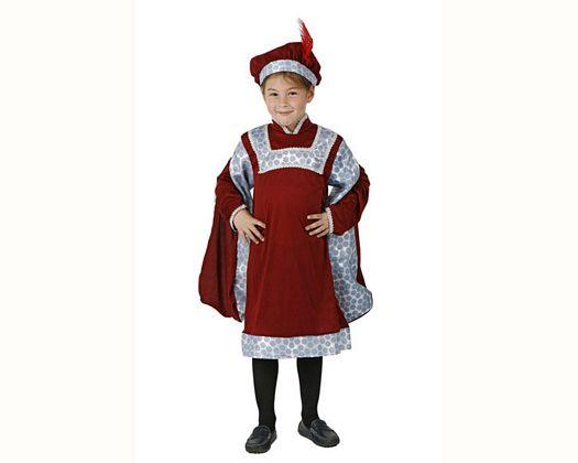 Disfraz de noble renacentista, Talla 4 (10 – 12 años)