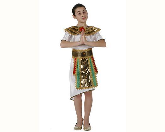 Disfraz de egipcia blanco verde,Talla 1 (3 – 4 años)