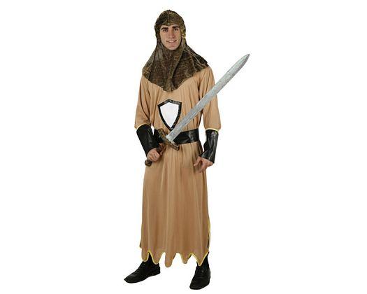 Disfraz de caballero medieval marrón, adulto