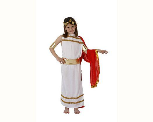 Disfraz de emperatriz romana rojo,3-4