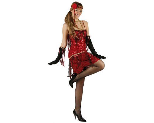 Disfraz de charleston rojo, adulto